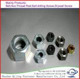 Tous les types dispositif de fixation de noix de la tête DIN985 Hex du zinc DIN 934 de M6 M8 M10 en acier du carbone