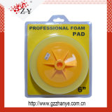 Orange Gelb-Schwarz-weiße Polierschwamm-Auflage hoch Standardqualitäts