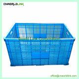 El apilamiento de verduras frutas almacenamiento ventilado bandeja de plástico con ruedas