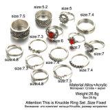 14PCS de de uitstekende Zilveren Maan van de Kleur en Ring van MIDI van de Zon