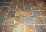 Ardesia arrugginita, mattonelle, pietra culturale, parete, pavimento, mattonelle del lastricatore