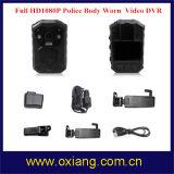 140 Grau de GPS de Ângulo Largo PI65 1080P Wearable junto ao corpo policial da câmara de vídeo