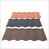 Haut de pierre de couleur résistant à la corrosion enduites de tuile de toit de métal