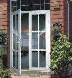 二重振動ガラスのドア
