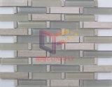 Faixa de misto de vidro e pedra cor cinza em mosaico para Cozinha Splash (CFS708)