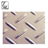 201/304/316 plaque Checkered d'acier inoxydable de configuration d'haricot