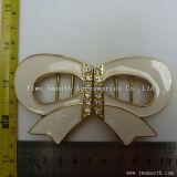 Дизайн эмаль Rhinestone Bowknot форма леди металлические для одежды преднатяжитель плечевой лямки ремня