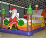 Castello di salto del PVC della trasparenza gonfiabile arancione della tela incatramata per Halloween o i giorni di Natale