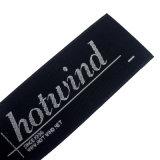 Ropa personalizada etiqueta tejida Logotipo principal de etiquetas tejidas para ropa/bolsa