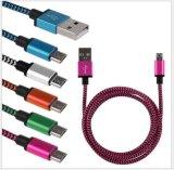 Do cabo de nylon do USB do micro de Colorfull carregador mais rápido e cabo da sincronização dos dados para o móbil de Andriod