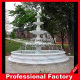 Jardín de piedra de mármol blanco barata fuente de agua más grande
