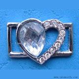 Accessori dell'indumento dell'inarcamento del pattino del metallo del trivello di Zircon della decorazione del Rhinestone di figura del cuore