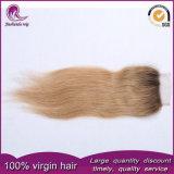 2t-русые прямых волос человека кружевной закрытия