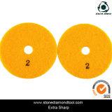 """4개의 """" /100mm 5 단계는 설계한 돌을%s 닦는 패드를 말린다"""