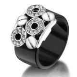 Späteste einfache schwarze Form-Schmucksache-Goldfinger-Ring-acrylsauerentwürfe