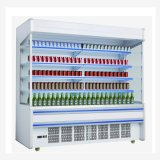 Refrigerador vertical abrir Pantalla refrigerados Multideck escaparate comercial de supermercados