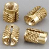 Boccola d'ottone zigrinata lavorante personalizzata di precisione della macchina di CNC
