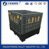 Serviço Pesado 100% de HDPE Caixa dobrável de paletes de plástico do carro elevador