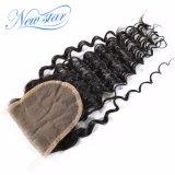 Chiusura profonda del merletto dell'onda dei nuovi della stella capelli brasiliani del Virgin