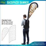Teardrop-Fahnen-Polyester-gehende Rucksack-Markierungsfahne (M-NF04F06097)
