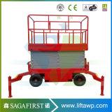 12m Table élévatrice à ciseaux électrique hydraulique pour la vente