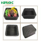 Cestini di vimini di plastica Handmade ecologici ed a gettare di Handicarft pp
