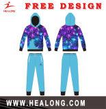 Healong最新のデザインスポーツ・ウェアの完全な染料の昇華平野Hoodie