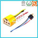 Connettore di ceramica elettrico H4-2A dell'indicatore luminoso giallo di 3 Pin dell'automobile