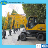 8.5 Tonnen-Rad-Exkavator-Aufbau-Maschine für Verkauf