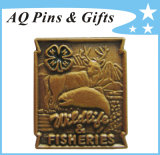 Pin professionale Badge di Factory Clover Metal Antique per 15 Years (badge-139)