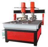La Cina Jinan 1530 4 router di legno di CNC di asse 4X8 con l'unità rotativa per i materiali rotondi