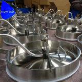 Oval Manway sanitarias hacia adentro el depósito de acero inoxidable sellado de silicona