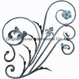 鋼鉄ゲートのパネル11044の錬鉄の花のロゼット