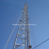 Einfach Guyed Zeile Telekommunikations-Stahl-Aufsatz installieren