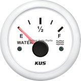 """mètre imperméable à l'eau d'indicateur de niveau de l'eau de 2 """" 52mm 12V 24V pour le bateau de voiture"""