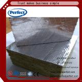 Rockwool com o tecido preto do vidro de fibra para a isolação