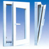 녹색 석쇠를 가진 단면도에 의하여 이중 유리로 끼워지는 유리제 UPVC 여닫이 창 Windows