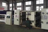 Impressão de alta velocidade da caixa da tinta da água que entalha a máquina cortando