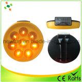 Indicatore luminoso d'avvertimento del girasole solare ambrato di traffico