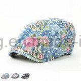 Подгонянная бейсбольная кепка ПЛЮЩА джинсовой ткани способа, шлем берета спортов