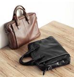 Sacchetto di cuoio di modo della cartella della signora di sacchetto della mano del computer portatile uomini