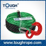 Full Set로 Hook Thimble Sleeve Packed를 가진 10 톤 Winch Dyneema Synthetic 4X4 Winch Rope