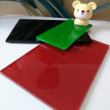 Plaques de verre de 4,8 mm peint en rouge