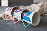 주문을 받아서 만들어진 로고 디자인 11oz 중국 본래 사기그릇 마시는 찻잔 커피잔