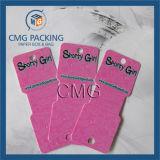 Weiße Belüftung-Halsketten-verpackenkarte (CMG-051)