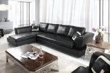 Sofà moderno del cuoio di grano della parte superiore della mobilia del salone popolare impostato (HC3010)