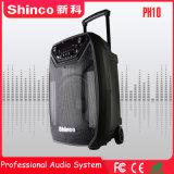 Shinco 10 pollici di Bluetooth di karaoke di altoparlante senza fili professionale del carrello con l'indicatore luminoso del LED