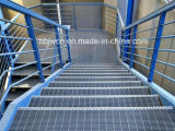 Hot DIP Galvanized Stair Step Metal avec Nosing Direct Factory