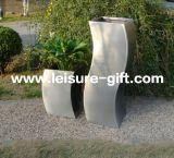 FO-9008 de decoratieve s-Type Pot van de Bloem van het Roestvrij staal