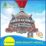 Ferro inoxidável feito sob encomenda esmalte macio carimbado que cerc o fornecedor da medalha dos esportes